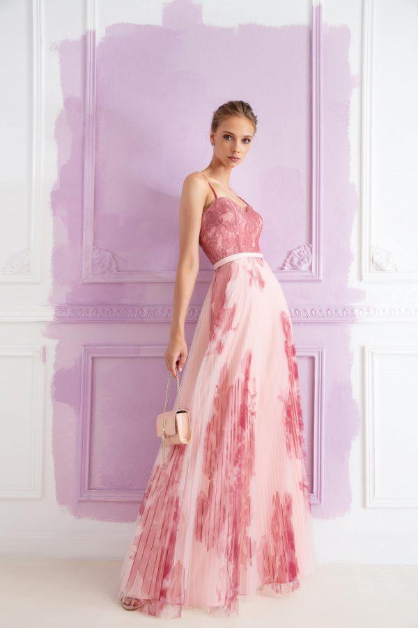 Abito fantasia rosa Allure DAVANTI