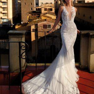 NI12192 Abito da Sposa Sirena Nicole Atelier La Luna Nuova DAVANTI