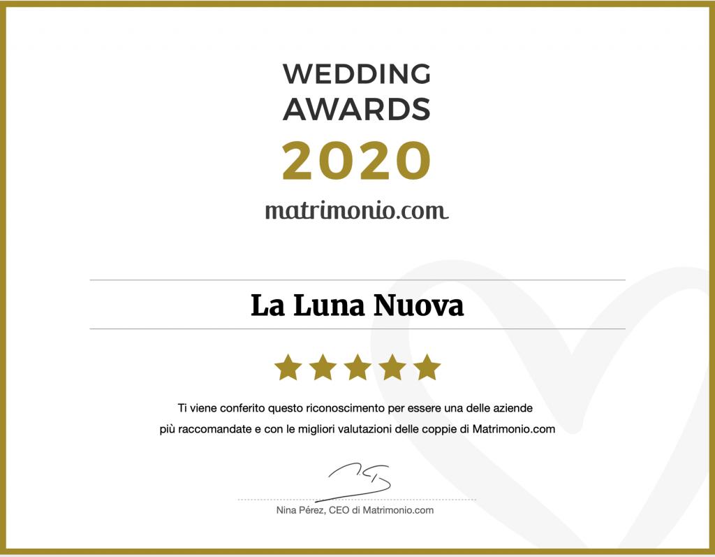 matrimonio.com wedding awards 2020