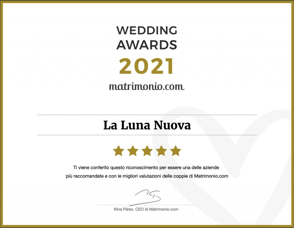 matrimonio.com wedding awards 2021